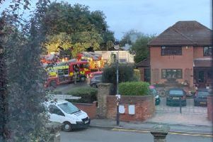 Fire engines attending the scene of the Louth Hospital Social Club on Saturday morning, October 12. (Photo: Supplied).