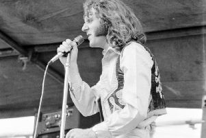 'Rocking' Ray Smith playing with his band Revolver at the Rabans Rocks Festival in the 1970s