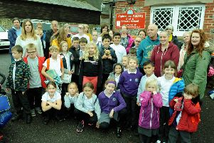 Parents and pupils at Clapham and Patching Primary School