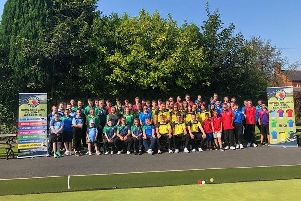 Young bowlers from all over Ireland at the Bowls Ireland Regional Academies Finals Day at the Belmont Club, Belfast