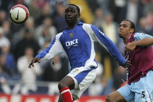 Andy Cole in action on his Pompey debut. Picture: Paul Gilham/Getty Images)