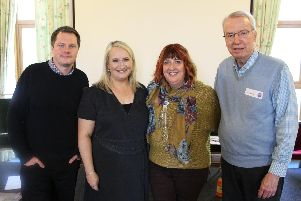 From left, Dr Paul Beadon, Dr Gemima Fitzgerald, Rowans chief executive Ruth White, and Ted Bowman at Rowans Hospice' Growth and Resilience Conference