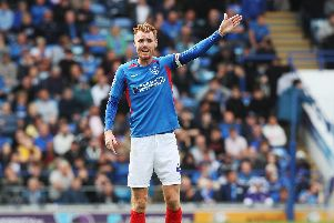 Skipper Tom Naylor believes Pompey's player should be able to adapt to formation switches. Picture: Joe Pepler