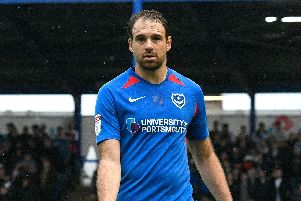 Kenny Jackett believes Brett Pitman could miss Pompey's next two matches. Picture: Graham Hunt/ProSportsImages