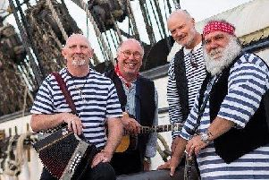 The Ansome Cabin Buoys will be at the Grand Trafalgar and Pickle Night celebration at The Square Tower on October 21.