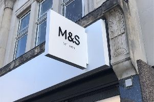 The site of the closed M&S store has been vacant since April.