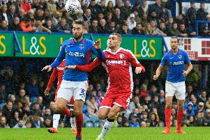 Ben Close in action during the recent 0-0 bore draw with Gillingham.