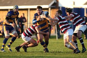 Sean Shepherd, pictured in action for former club Gosport & Fareham, scored two tries in Havant's win at Dartfordians