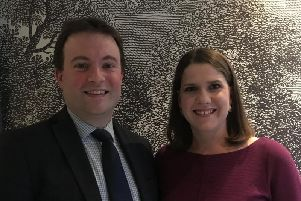 Henry Vann with Lib Dem party leader Jo Swinson