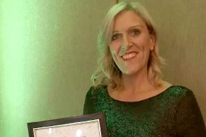 Joanne Collins - also known as Coach Collins - won highly commended with her 1:1 Diet by Cambridge Weight Plan in the Look Good category at the VIP Awards on October 4.