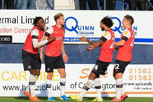 Harry Cornick takes the plaudits after making it 2-0 to Luton on Saturday