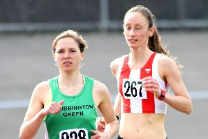 Rebecca Lord, left, was runner-up in the latest Lee-on-the-Solent parkrun