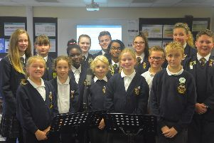 Children from Morelands Primary School and Crookhorn College have composed a song to celebrate Morelands 50th anniversary.