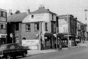 Commercial Road, Portsmouth, before the M275 wiped it from the face of the city. Herbert Street is on the left. Picture: Mick Cooper collection