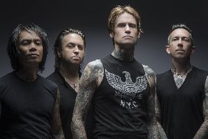 Buckcherry with Josh Todd, second from right. Picture by Jeremy Saffer