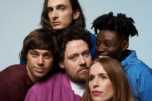 Metronomy are at Southampton Guildhall on November 6, 2019.