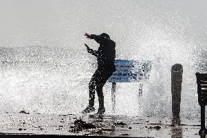 A weather warning for strong winds has been issued for Portsmouth