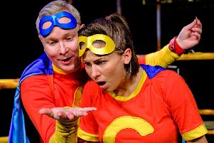 Mission... Save The World by M6 Theatre Company was at The Spring Arts Centre, Havant, starring Luke Walker and Lois Mackie. Picture by Lewis Wileman