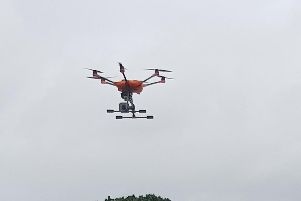 Drones are being used by Hampshire police to hunt for missing people,  respond to major incidents, capture aerial crime scene imagery, at road traffic collisions, and at large public events. Picture: Hampshire police/TVP