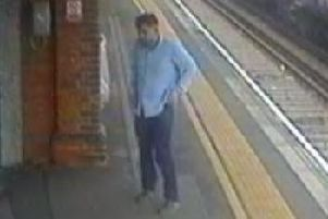 British Transport Police want to speak to this man in connection with the assault at Fareham Railway Station on September 28. Picture: British Transport Police