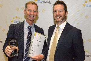 Award-winner Alistair Lambon (left) with Head of St Vincent College Andy Grant