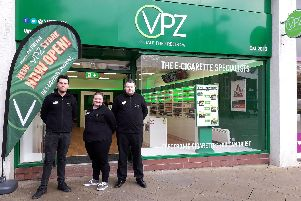 The new vaping store VPZ, which has just opened in Fareham town centre.