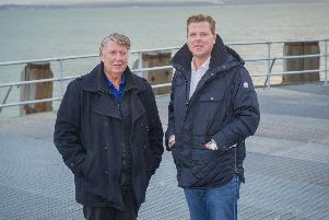 5/11/19''South Parade Pier is reopening its boat deck after being closed for five years and having a 200,000 refurbishment.''Picture: Habibur Rahman''South Parade Pier is reopening its boat deck after being closed for five years and having a 20,000 refurb. Tommy Ware and Tommy Ware junior. Picture: Habibur Rahman