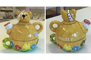 Get Crafty Gosport will be auctioning off this hand-painted Pudsey teapot as part of their efforts to raise funds for Children in Need