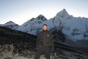 Andy Wilson from Fareham has completed his trek to Everest Base Camp he was doing for SSAFA.