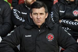 Fleetwood Town manager Joey Barton Picture: Daniel Chesterton