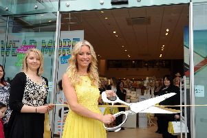 Denise Van Outen opens the Mamas and Papas store in 2013'Picture: Ian Hargreaves  (131392-6)