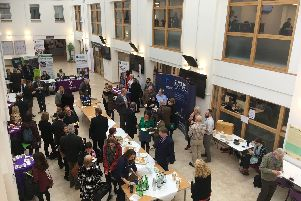 The guests at the University of Portsmouth's U2B event, which launched the new EMphasis3 CO2 Reductions Project which will give 600,000 to SMEs in the area to help them improve their carbon footprint.