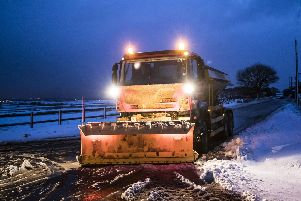 Schoolchildren in Hampshire named eight gritters to join the council's fleet. Picture: Danny Lawson/PA Wire