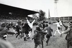 GIANTKILLERS: Hereford beating Newcastle in 1972. Picture: John Motson archive