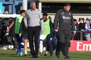 An upset never looked on the cards for Keith Curle's team at Hardenhuish Park on Sunday. Picture: Pete Norton