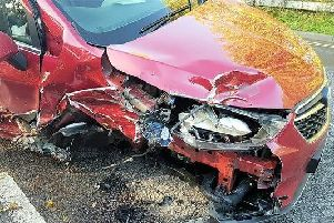 Three-car collision in Chichester on November 7. Picture: Sussex Police