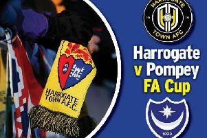 Pompey face Harrogate Town in the FA Cup first round