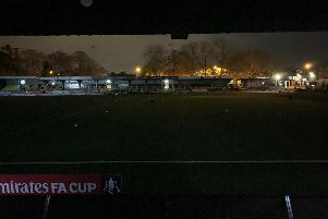 Harrogate's home was plunged into darkness tonight