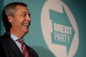 Brexit Party leader Nigel Farage. Picture: Owen Humphreys/PA Wire