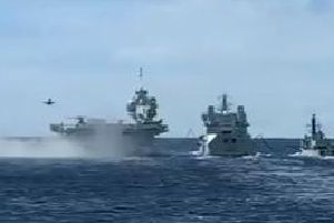 Still from video shared by HMS Dragon on Twitter. Picture: HMS Dragon/ Twitter
