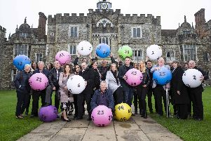 Lottery winners from across the South of England, who between them have won 149 million, gathered to celebrate The National Lottery's 25th Birthday. To date a stunning 776 lottery millionaires have sported a South of England postcode, creating more than 31 new local millionaires every year, an average of five every two months.'Copyright Camelot, Free For Editorial Use'Photographer: James Robinson
