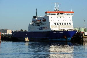 18/12/12 ''Portsmouth Harbour Tour. Pictured is the Condor Ferries Commodore Clipper''Picture: Paul Jacobs  (123674-26)