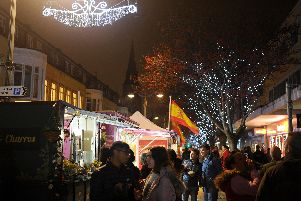 The Christmas lights will be turned on in Southsea tonight. Picture: Sarah Standing (180832-1174)