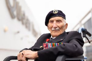 John Jenkins is celebrating his 100th birthday. Picture by Christopher Ison
