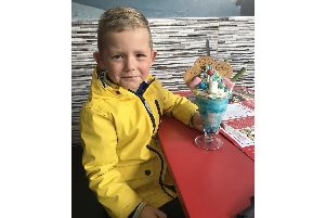 George Bates, 5, from Somers Town is not letting his autism stop him as he collects 100 hugs to raise funds for Children in Need
