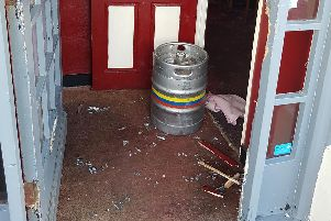 Damage caused to the Lee Tandoori restaurant in Lee-on-the-Solent
