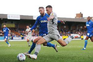 Lee Brown has stated he wants to remain at Pompey beyond the expiry of his contract. Picture: Joe Pepler