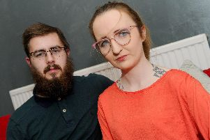 Danielle Byron-Baker-Harvey, 25, and her husband Ricky, 24, from Alverstoke. Picture: Sarah Standing (151119-683)
