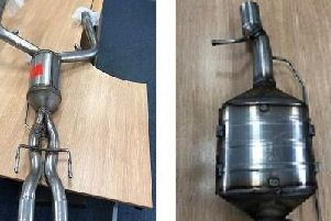 Images of diesel particulate filters used in the prosecution of European Exhaust and Catalyst Ltd, based in Denmead. Picture: DVSA