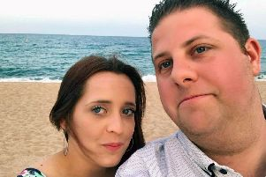 Karl Silvester was jailed for three years at Portsmouth Crown Court for stalking his ex-partner Saffron Bennett. The part-time limo driver drove her to attempt suicide by overdose then tried to get into her hospital room as she recovered. Picture: Saffron Bennett''Pictured: Karl Silvester and Saffron Bennett